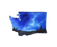 Washington State Watercolor Fine Art Print