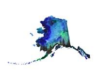 Alaska State Watercolor Fine Art Print