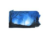 Pennsylvania State Watercolor Fine Art Print