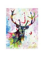 Color Stag Fine Art Print