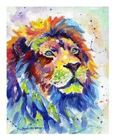 Colorful African Lion Framed Print