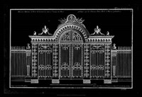 Neufforge Gate Blueprint III Fine Art Print