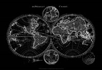World Map Blueprint Fine Art Print