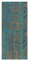 Blue Arabesque II Framed Print