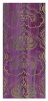 Purple Arabesque II Framed Print