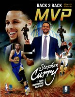 Stephen Curry 2016 Back to Back MVP Portrait Plus Framed Print