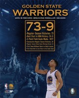 Golden State Warriors record breaking regular season 73-9 Fine Art Print