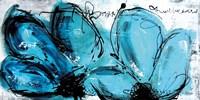 2 Fleurs Turquoises Fine Art Print