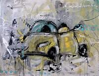 Car Yellow Fine Art Print