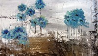 Floralies du Blues Fine Art Print