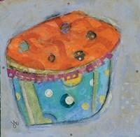 Cupcake I  (orange icing) Fine Art Print