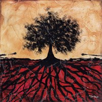 Tree with Roots I Fine Art Print