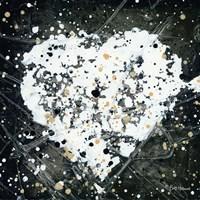 Emotions Scenes White Heart Fine Art Print