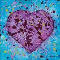 Emotions Scenes Purple Heart Fine Art Print