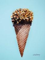 Nutty Ice Cream Cone Fine Art Print