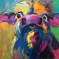 Colorful Cow Fine Art Print