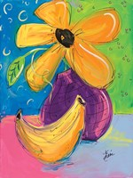 Yellow Flower and Banana Fine Art Print