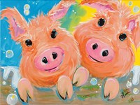 Pig Duo Fine Art Print