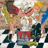 Kiss the Cook Fine Art Print