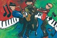 Jazz Ensemble Fine Art Print