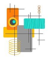 Modop in Orange Fine Art Print