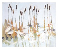 Cattails and Ice Fine Art Print