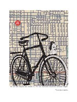 Bicycle on Hawthorne Portland Fine Art Print