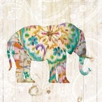 Boho Paisley Elephant I Fine Art Print