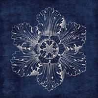 Rosette V Indigo Fine Art Print