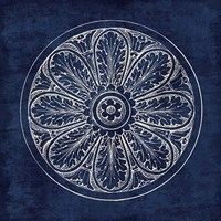 Rosette VIII Indigo Fine Art Print