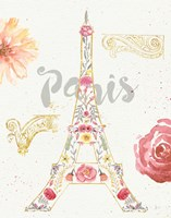 Paris Blooms I Fine Art Print
