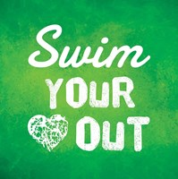 Swim Your Heart Out - Green Fine Art Print