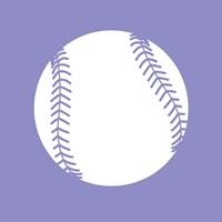 White Softball on Purple Fine Art Print