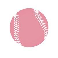 Baby Pink Softball on White Fine Art Print