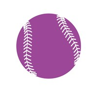 Violet Softball on White Fine Art Print
