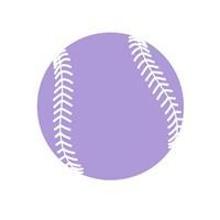 Purple Softball on White Fine Art Print