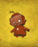 Red Robot Star Fine Art Print