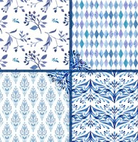 Blue Patterns Fine Art Print
