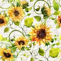 Sunflower Pattern I Fine Art Print
