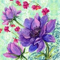 Bright Florals II Framed Print