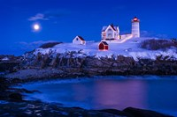 Christmas At Nubble Fine Art Print