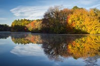 Color On Grist Mill Pond Fine Art Print