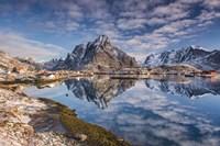 Mirror In The Fjord Fine Art Print