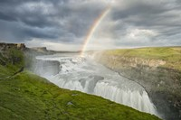 Rainbow Over Gullfoss Fine Art Print