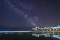 Pier in the Stars Fine Art Print