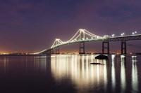 Dusk over Newport Bridge Framed Print