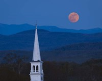 Moon Over Vermont Hills Fine Art Print