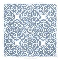 Chambray Tile IX Framed Print
