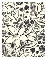Brushstroke Blossoms II Framed Print