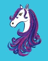 Horse - Blue Fine Art Print